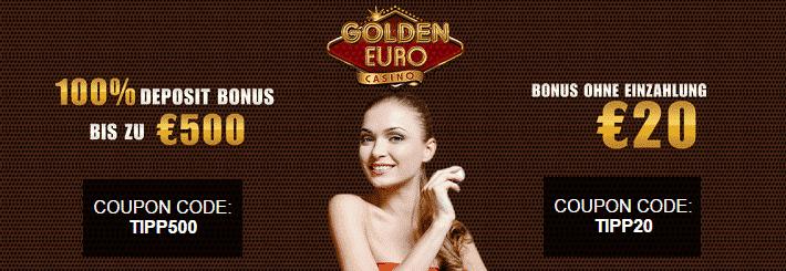 Golden Euro Willkommens Bonus