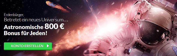 Quasar Gaming Willkommens Bonus