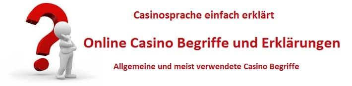 Online Casino Begriffe