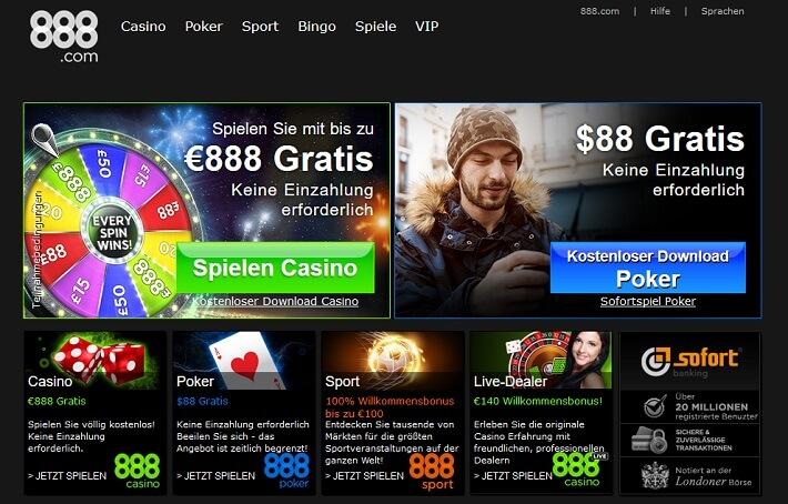 888 casino online casino €88 gratis bonus