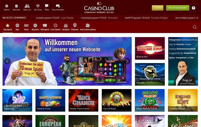 casino club website
