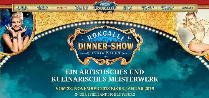 Roncalli Dinner Show