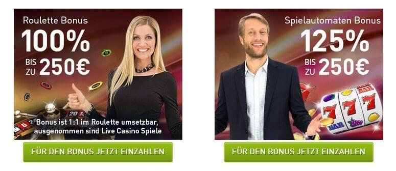 Roulette oder Spielautomaten Bonus