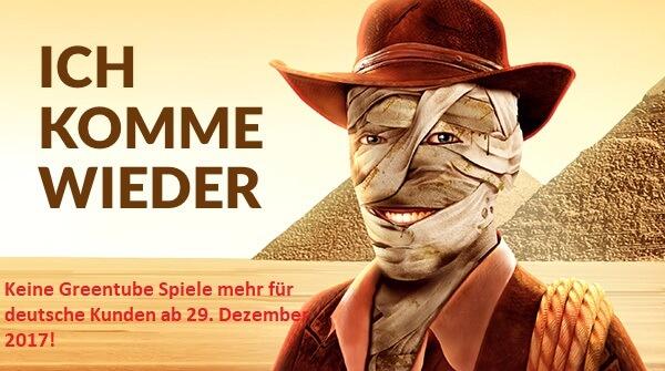Einstellung der Greentube Spiele in Deutschland